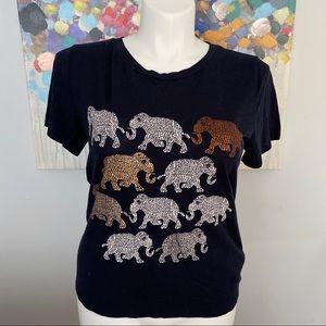 J.CREW Elephant Graphic Tee